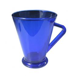 Кружка синяя прозрачная 285 мл.