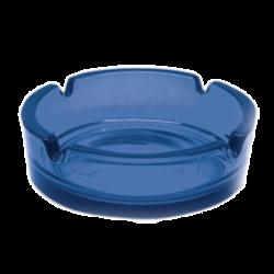 Пепельница стек.прозр. 108 мм синяя