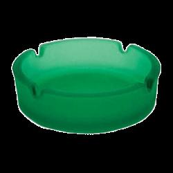 Пепельница стек.матовая 108 мм. зеленая