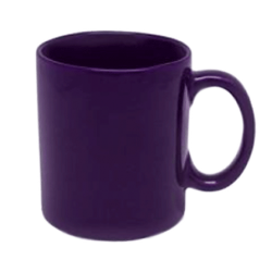 Кружка фиолетовая 250 мл.