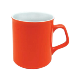 Кружка СПАРТА оранжево-белая 300мл.