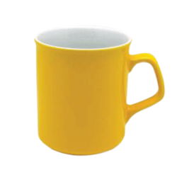 Кружка СПАРТА желто-белая 300мл.