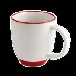 Кружка CASINO белая с красным ободом 350 мл.