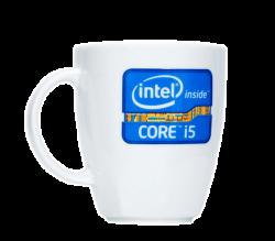 """Кружка керамическая, белая с 4-х цветной деколью. Логотип  """"Core"""""""