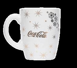"""Кружка керамическая, белая с одноцветной деколью. Логотип """"Coca-cola"""""""