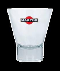 """Стакан стеклянный с 3-х цветной деколью. Логотип """"Martini"""""""