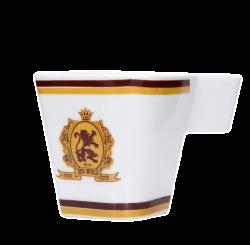 Чашка керамическая, белая с 2-х цветной деколью