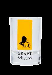 """Стопка стеклянная с 2-х цветной деколью.Логотип """"Graft Selection"""""""