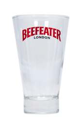 """Стакан стеклянный с 2-х цветной деколью. Логотип """"Beefeater London"""""""