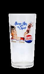 """Стакан стеклянный с деколью CMYK. Логотип """"Pepsi-cola"""""""