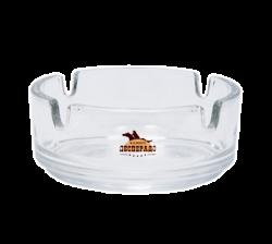"""Пепельница стеклянная с 2-х цветной деколью. Логотип """"Десперадо"""""""