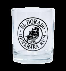 """Стакан стеклянный, с одноцветной деколью. Логотип """"El dorado"""""""