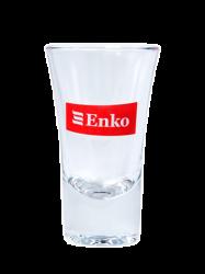 """Стопка стеклянная, с 2-х цветной деколью. Логотипом """"Enko"""""""