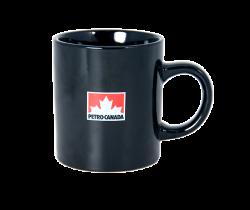 """Кружка керамическая,черная с 2-х цветной деколью. Логотип """"Petro-Canada"""""""