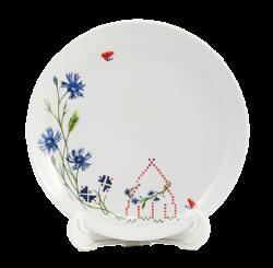 Тарелка белая, керамическая с деколью CMYK.